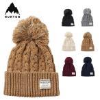バートン ビーニー ニット帽 Burton JPN ZIPPY BN ジャパン ジッピー ビーニー 帽子 メンズ レディース ポンポン ケーブル編み ワンポイントロゴ 折り返し