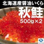 いくら イクラ いくら醤油漬け 500g 2パック入 計1kg 北海道産 秋鮭 最高級品 箱付き ギフト 送料無料 お歳暮