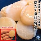 ホタテ貝柱 北海道オホーツク海産 1kg化粧箱入 お刺身用 1kgに81〜100粒入 特小サイズの6Sサイズ