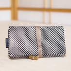 道中財布 刺し子 三つ折り 茶色 和装 和柄 布 小物 財布 日本製 手作り 和財布 祭