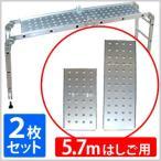 はしごプレート 5.7m用 はしご専用プレート 2枚組 梯子 はしご ハシゴ 踏み台 脚立 足場 洗車 高所 作業 ガーデニング 庭