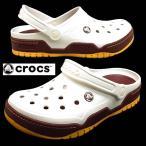 クロックス crocs Front Court Clog 14300-19B 白/金 フロントコート クロッグ サンダル メンズ
