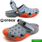クロックス crocs swiftwater clog 202251-0V3 smoke/tangerine スウィフトウォーター クロッグ サンダル メンズ