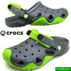 ショッピングcrocs クロックス crocs swiftwater clog 202251-328 volt green/graphite スウィフトウォーター クロッグ サンダル メンズ