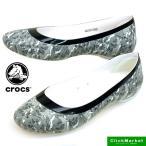 クロックス crocs lina shiny flat w 203406-14K リナ シャイニー フラット ウィメン フラット パンプス バレエシューズ
