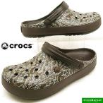 ショッピングサボ クロックス crocs crocband cable knit clog 203609-206 espresso クロックバンド ケーブルニット クロッグ サンダル