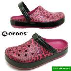 クロックス crocs Crocband leopard 2.0 Clog 203681-675 クロックバンド レオパード 2.0 クロッグ サンダル 豹 Berry
