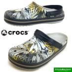 ショッピングサボ クロックス crocs crocband graphic clog 204553-152 pearl white/navy クロックバンド クロッグ サンダル レディース/メンズ