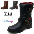 ビス ViS Disney ディズニー DV12 ミッキー 0012 エンジニアブーツ レディース