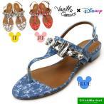 バニラエッセンス Vanilla Essence Disney ディズニー バックバンド トング ビジューサンダル 6029  レディース