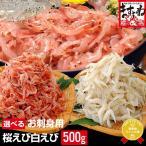 生食お刺身OK 桜えび500g or 白えび500g 125g×4パック構成で使いやすい さくらエビ 白エビ 海老 冷凍便 送料無料