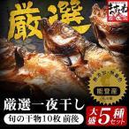 石川県能登町自慢の旬の魚5種、無添加熟成一夜干し干物セット(10枚以上)[冷凍便 / 同梱不可 / 配送無料]