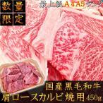 肩肋排 - A5A4ランク最上級国産黒毛和牛 肩ロースカルビ焼用450g 焼肉 不揃い 御家庭用 牛肉 バーベキュー