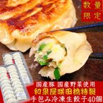 国産豚肉 国産野菜使用 和泉屋咲田橋手作り冷凍生餃子 40個 餃子鍋 水餃子 数量限定 送料無料