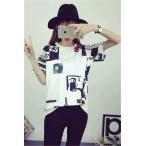 送料無料 半袖Tシャツ レディース Tシャツ BIGBANG GD  女 クールネック ビッグバン 韓流グッズ TOP G-Dragon