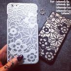 花柄 半透明 ブラック ホワイト iPhone X iphone7 スマホケース メール便 送料無料