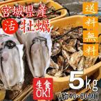 殻付き牡蠣 生食用 産地直送 宮城県産 5kg 送料無料 旬 活 かき 生ガキ