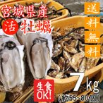 殻付き牡蠣 産地直送 宮城県産 7kg 生食用 送料無料 旬 活 かき 生ガキ