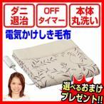 広電 リファン 電気かけしき毛布 LWK081-CL-T 夢あんない 電気毛布 掛け敷き毛布 ダニ退治 綿100% LWK081CLT