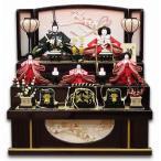 雛人形 平安豊久作 ひな人形 詩織 五人飾り コンパクト 引出し三段飾り