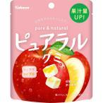 カバヤ食品 ピュアラルグミ りんご 58g