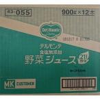 日本デルモンテ デルモンテ 食塩無添加野菜ジュース 900G×12