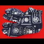 【送料無料】商標アンティーク 帆布(紺・銀)お洒落な和柄足袋 義若オリジナル ※