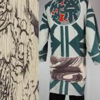 带 - 【お祭り用品】楊柳巻帯 ムラ染め 龍(ムラサキ) 一重巻(ひとえまき)タイプ