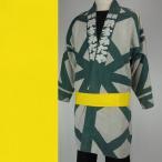 带 - <メール便対象>お祭り用品 大人用無地帯(カラー帯) 黄色(G-3)