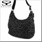 サボイ SAVOY バッグ 新作 軽いナイロンロゴ柄斜めがけショルダーバッグ(大)15SM61911601