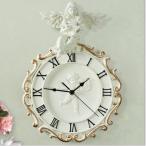 壁掛け時計 2021新作 北欧 デザイン 高級感 音がしない ギフト 掛時計 引っ越し祝い 入学祝い 玄関 インテリア時計 ホワイト 天使 振り子 ロマンティック 子供