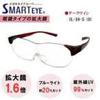 SMART EYE 拡大鏡 1.6倍 メガネタイプ ルーペ 紫外線 ブルーライトカット スマートアイ SL-10-5 (6) あすつく