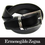 Ermenegildo Zegna エルメネジルド ゼニア 牛革 ベルト リバーシブル 紳士 メンズ 黒/茶 (23)