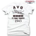 ミリタリー Tシャツ メンズ 半袖 AVGフライングタイガース / ホワイト 白