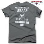 Tシャツ ミリタリー 半袖 メンズ 爆弾エアフォース メンフィス ベル モデル ロゴT THE MAVEVICKS ブランド/チャコールグレー