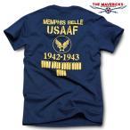 Tシャツ ミリタリー 半袖 メンズ 爆弾エアフォース メンフィス ベル モデル ロゴT THE MAVEVICKS ブランド/ネイビー