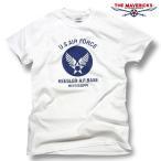 Tシャツ メンズ 半袖 ミリタリー アメカジ USAF エアフォース MAVERICKS ブランド/白 ホワイト