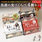 【新商品】馬渡の食べくらべ4種セット(もっちり餃子10個 えびしそ餃子10個 くろぶた餃子10個 とり餃子10個)