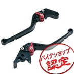 ビレット レバー セット R-タイプ 黒/赤 ブラック レッド スティード600 VT250F マグナ250 CB750 CBR750R VTR250 JADE CBR400F ブレーキ クラッチ