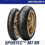 メッツラー SPORTEC M7RR 前後120/70ZR17 58W TL 180/55ZR17 73W TL スポルテック METZELER タイヤ