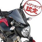 MT-07 MT-07ABS ショート スモーク スクリーン ワイズギア タイプ ウインドシールド メーターバイザー EBL-RM07J バイク