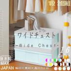 収納ケース 引き出し ワイド カラフルチェスト プラスチック 完成品 1段 2個組 幅60cm おしゃれ ホワイト/パームグリーン 日本製