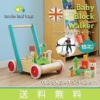おもちゃ 子供用 手押し車 木製 知育玩具 子供 入園祝い 出産祝い カタカタ ベビーブロックウォーカー tender leaf toys