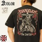 エヴァンゲリオン Evangelion × ローブローナックル Tシャツ 半袖 アスカ バイク 520205