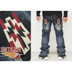 INDIAN MOTOCYCLE[インディアンモトサイクル] チマヨ柄 刺繍 ジーンズ/デニム/IMBL-701/送料無料