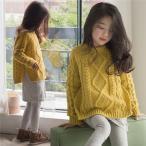 ニット セーター キッズ 女の子 子供服 ジュニア トップス パーカー 新作 長袖 通園 通学 可愛い ケーブル編みセーター