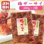 送料無料 梅ザーサイ(350g)2袋セット 梅 ザーサイ 搾菜 梅干し ご飯のお供 惣菜 漬物 おつまみ お土産