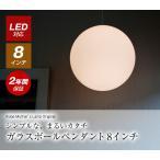 照明 ランプ ボール ペンダント ライト ガラス 20cm 白 黒 スタイリッシュ モダン 天井 寝室 カフェ p-0008