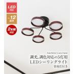 照明 おしゃれ シーリングライト LED 調光 調色 天井照明 リビング ダイニング 12畳 省エネ ナチュラル ブラウン