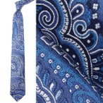 エトロ ETRO ネクタイ(剣先幅:8cm) ブルー メンズ おしゃれ 身だしなみ 仕事 ビジネス パーティ 12026-3002-200